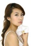 Mooie Aziatische jonge vrouw Royalty-vrije Stock Foto's