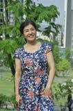 Mooie Aziatische rijpe vrouw Stock Afbeeldingen