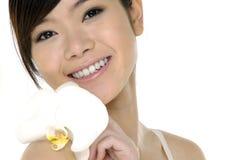 Mooie Aziatische vrouw Stock Fotografie