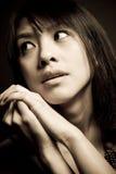 Mooie Aziatische vrouw Royalty-vrije Stock Afbeeldingen
