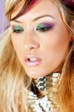 Mooie Aziatische vrouw met make-up Stock Foto's