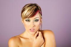 Mooie Aziatische vrouw met make-up royalty-vrije stock foto