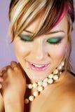Mooie Aziatische vrouw met make-up royalty-vrije stock afbeeldingen