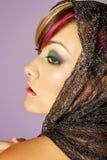 Mooie Aziatische vrouw met make-up stock afbeelding