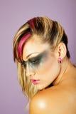 Mooie Aziatische vrouw met make-up stock afbeeldingen