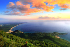 Mooie baai in de ochtend Stock Foto