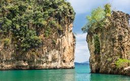 Mooie Baai in de Provincie van Hong Island - Krabi-, Thailand Royalty-vrije Stock Afbeeldingen