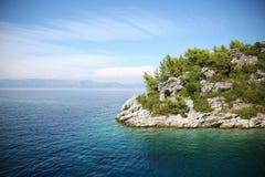 Mooie Baai in Mijet, Kroatië royalty-vrije stock foto's
