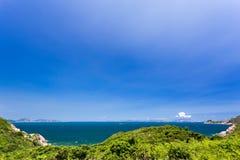 Mooie Baai op heuvel Stock Afbeelding