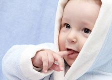 Mooie baby na bad stock afbeeldingen