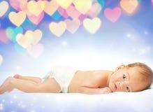 Mooie baby over een abstracte achtergrond Royalty-vrije Stock Foto