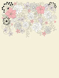 Mooie backgroung met bloemendecoratie Royalty-vrije Stock Afbeelding