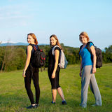 Mooie backpackers Royalty-vrije Stock Afbeeldingen