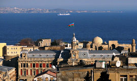 Mooie Baku (Baki) Azerbeidzjan Royalty-vrije Stock Afbeeldingen