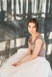 Mooie balletdanser portret Royalty-vrije Stock Afbeeldingen