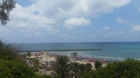 mooie beach& x27; s mening van de hotelsstrook Royalty-vrije Stock Foto