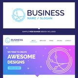 Mooie Bedrijfsconceptenmerknaam wereldwijd, mededeling stock illustratie