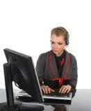 Mooie bedrijfsvrouw - die op wit wordt geïsoleerdt Stock Foto's