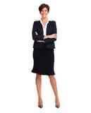 Mooie bedrijfsvrouw met kort kapsel stock afbeelding