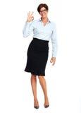 Mooie bedrijfsvrouw met kort kapsel royalty-vrije stock foto