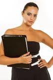 Mooie bedrijfsvrouw met omslag Royalty-vrije Stock Fotografie