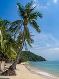 Mooie beelden van zandige stranden op Koh Phangan royalty-vrije stock foto's