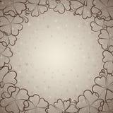 Mooie beige bloemenachtergrond Royalty-vrije Stock Foto