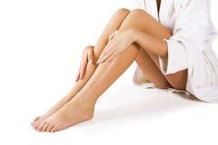 Mooie benen op wit Royalty-vrije Stock Afbeeldingen