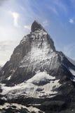 Mooie berg Matterhorn, Zwitserse Alpen Stock Foto's