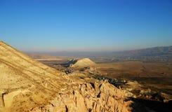 Mooie bergen en aardmening Stock Foto