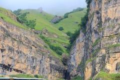 Mooie bergen in Gusar regionof Azerbeidzjan Royalty-vrije Stock Afbeeldingen