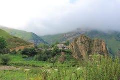 Mooie bergen in Gusar regionof Azerbeidzjan Royalty-vrije Stock Foto