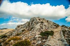 Mooie bergen op het westelijke deel van het eiland van Mallorca, Spai Royalty-vrije Stock Foto