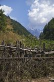 Mooie bergen van Svaneti, Georgië Oude Architectuur Stock Afbeelding