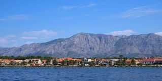 Mooie bergketen in Kroatië royalty-vrije stock foto's