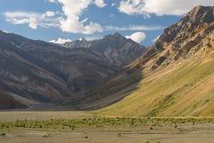 Mooie bergtextuur en landschap in Zanskar-vallei in su Royalty-vrije Stock Afbeelding