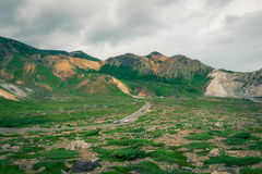 Mooie bergweg Stock Fotografie