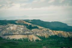 Mooie bergweg Stock Afbeeldingen