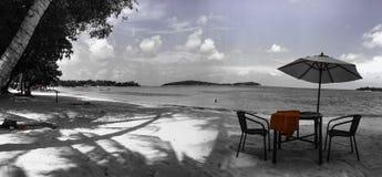 Mooie beschrijving op het eiland Thailand van strandkoh samui Stock Foto