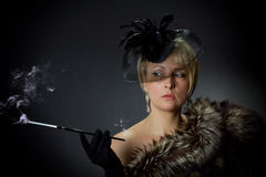 Mooie betoverende vrouw in de studio Royalty-vrije Stock Foto