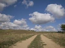 Mooie bewolkte weerbeelden Royalty-vrije Stock Foto's