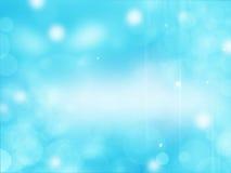 Mooie blauwe achtergrond met sommige vage lichten op het Royalty-vrije Stock Afbeeldingen