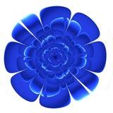 Mooie blauwe bloem in fractal ontwerp Kunstwerk voor creatief DE stock foto