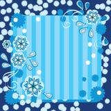 Mooie blauwe bloemenachtergrond Royalty-vrije Stock Afbeeldingen