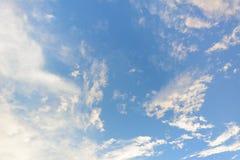 Mooie blauwe hemel Royalty-vrije Stock Foto's