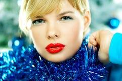 Mooie Blauwe Kerstmis Royalty-vrije Stock Fotografie