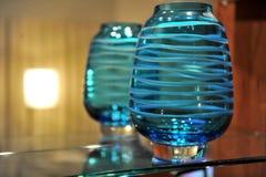 Mooie Blauwe Vaas Stock Fotografie