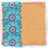 Mooie blauwe zonnebloemachtergrond Royalty-vrije Stock Afbeelding