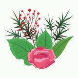 Mooie bloemen met bladeren Stock Foto
