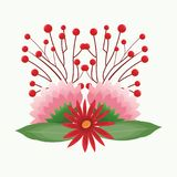 Mooie bloemen met bladeren Royalty-vrije Stock Foto